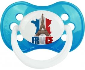 Carte France + Tour Eiffel Sucette Anatomique Cyan classique