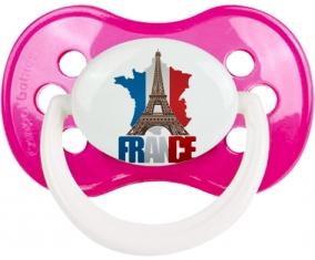 Carte France + Tour Eiffel Sucette Anatomique Rose foncé classique