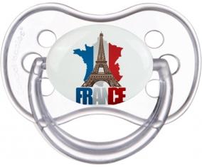 Carte France + Tour Eiffel Sucette Anatomique Transparente classique