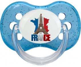 Carte France + Tour Eiffel : Sucette Cerise personnalisée