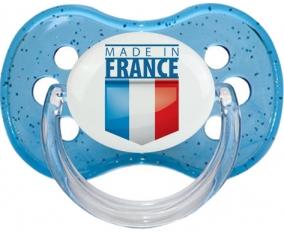 Made in France design 2 Tétine Cerise Bleu à paillette