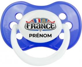 Flag France design 2 avec prénom Tétine Anatomique Bleu classique