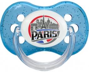 Ville de Paris design 1 Tétine Cerise Bleu à paillette