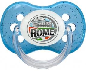 Ville de Rome Tétine Cerise Bleu à paillette