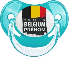 Made in Belgium design 1 Tétine Physiologique Bleue classique