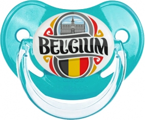 Flag Belgium Tétine Physiologique Bleue classique