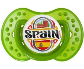 Flag Spain Tétine LOVI Dynamic Vert classique