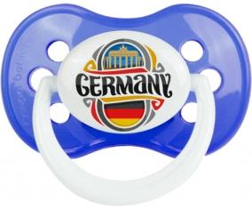 Flag Germany Tétine Anatomique Bleu classique