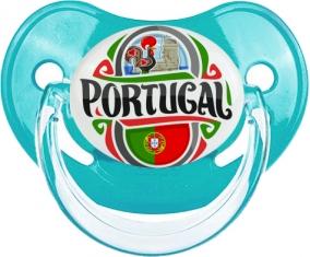 Flag Portugal Tétine Physiologique Bleue classique