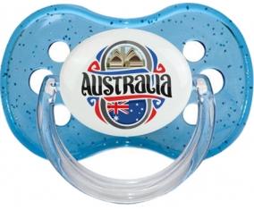 Flag Australia Tétine Cerise Bleu à paillette