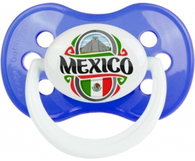 Flag Mexico Tétine Anatomique Bleu classique