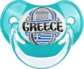 Flag Greece Tétine Physiologique Bleue classique