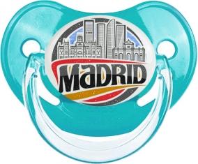 Ville de Madrid Tétine Physiologique Bleue classique