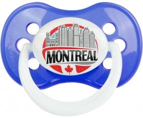 Ville de Montreal Tétine Anatomique Bleu classique
