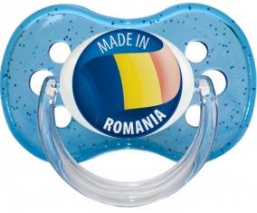 Made in ROMANIA Bleu à paillette