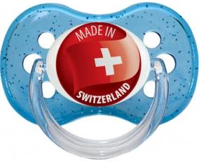Made in SWITZERLAND Bleu à paillette