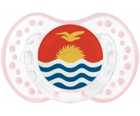 Drapeau Kiribati Sucette LOVI Dynamic Retro-blanc-rose-tendre classique