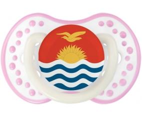 Drapeau Kiribati Sucette LOVI Dynamic Blanc-rose phosphorescente