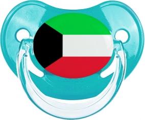 Drapeau Koweit Tétine Physiologique Bleue classique