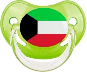 Drapeau Koweit Tétine Physiologique Vert classique