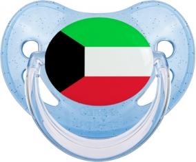 Drapeau Koweit Tétine Physiologique Bleue à paillette
