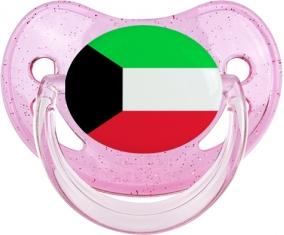 Drapeau Koweit Tétine Physiologique Rose à paillette