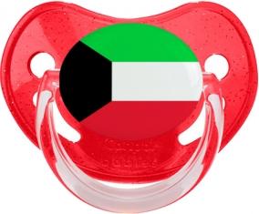 Drapeau Koweit Tétine Physiologique Rouge à paillette