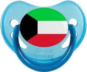 Drapeau Koweit Tétine Physiologique Bleue phosphorescente