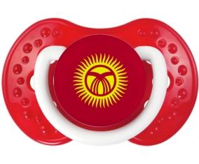 Drapeau Kirghizistan Tétine LOVI Dynamic Blanc-rouge classique
