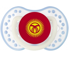 Drapeau Kirghizistan Tétine LOVI Dynamic Blanc-cyan classique