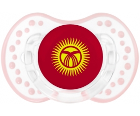 Drapeau Kirghizistan Tétine LOVI Dynamic Retro-blanc-rose-tendre classique