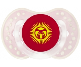 Drapeau Kirghizistan Tétine LOVI Dynamic Retro-rose-tendre classique