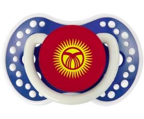 Drapeau Kirghizistan Tétine LOVI Dynamic Bleu-marine phosphorescente