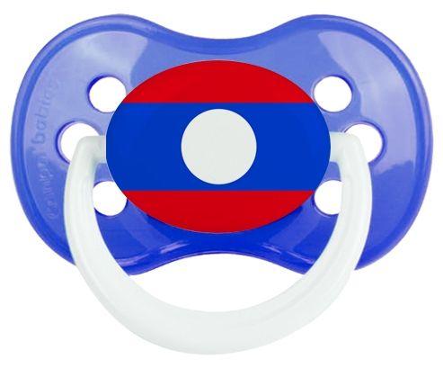 Drapeau Laos Tétine Anatomique Bleu classique