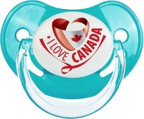 I Love Canada design 2 : Sucette Physiologique personnalisée
