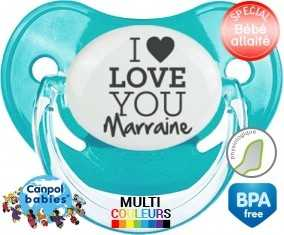 I love you marraine style1: Sucette Physiologique-su7.fr