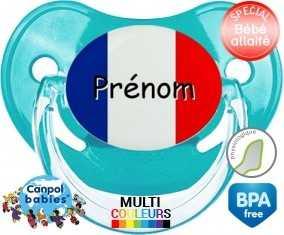 Drapeau france + prénom: Sucette Physiologique-su7.fr