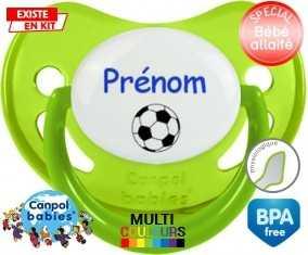 Ballon foot + prénom: Sucette Physiologique-su7.fr