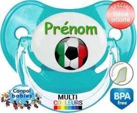 Ballon foot Italie + prénom : Sucette Physiologique personnalisée