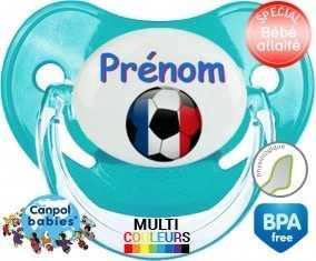 Ballon foot France + prénom : Sucette Physiologique personnalisée