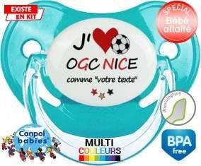 J'aime ogc nice + prénom: Sucette Physiologique-su7.fr