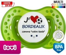 J'aime bordeaux + prénom: Sucette LOVI Dynamic-su7.fr