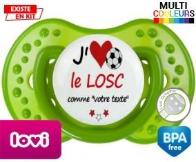 J'aime le losc + prénom: Sucette LOVI Dynamic-su7.fr