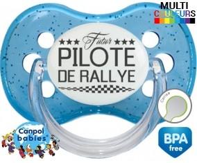 Tetine Futur pilote de rallye style1 embout Cerise personnalisée