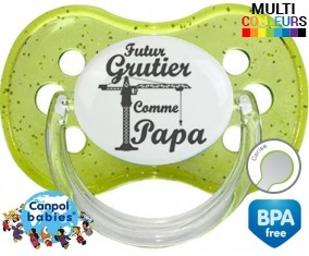 Originale futur grutier comme mon papa: Sucette Cerise-su7.fr