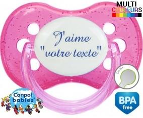 J'aime style3 + prénom: Sucette Cerise-su7.fr