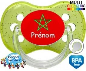 Drapeau maroc + prénom: Sucette Cerise-su7.fr