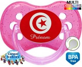 Drapeau tunisie + prénom: Sucette Cerise-su7.fr