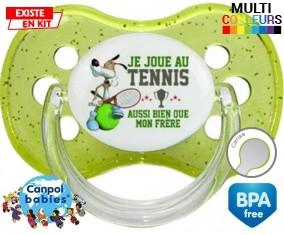 Je joue au tennis aussi bien que mon frère: Sucette Cerise-su7.fr