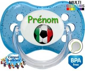 Ballon foot Italie + prénom : Sucette Cerise personnalisée